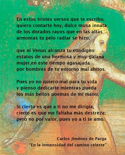 EN LA INMENSIDAD DEL CAMINO CELESTE. Carlos Jiménez de Parga