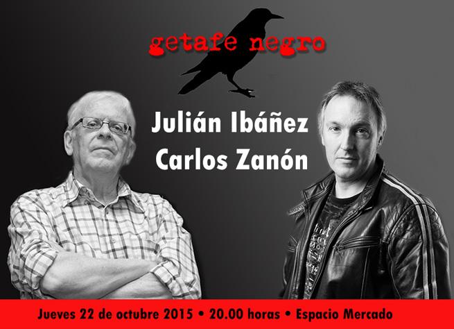 Julián Ibáñez y Carlos Zanón en Getafe Negro