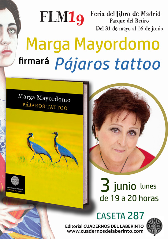 Marga Mayordomo firmará Pájaros tattoo
